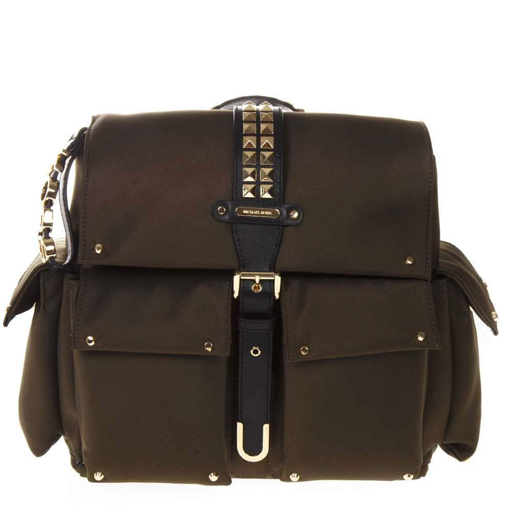 b3436d07194a MEDIUM OLIVIA BACKPACK IN SATIN WITH STUDS SS 2019 - MICHAEL MICHAEL KORS - Boutique  Galiano