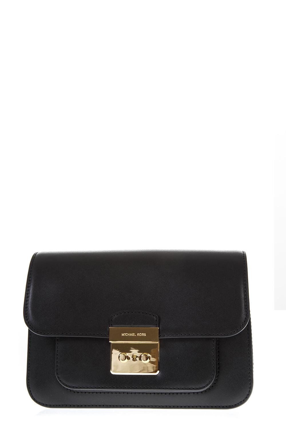 b2041372daa5 BLACK LEATHER CROSSBODY BAG SS 2019 - MICHAEL MICHAEL KORS - Boutique  Galiano