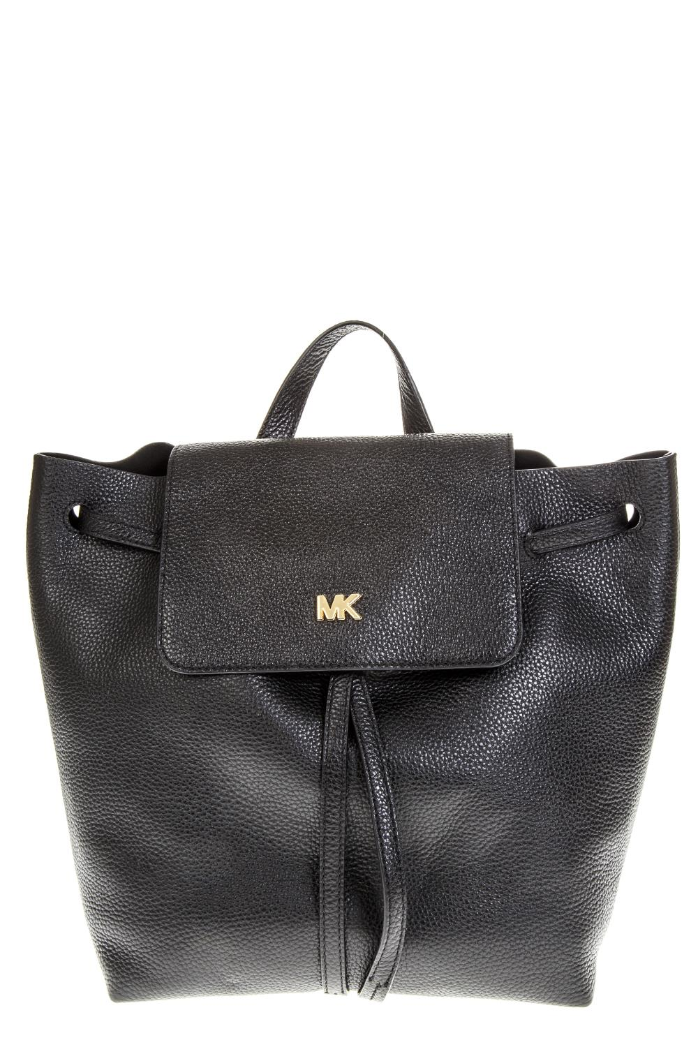 08e2b7def852 BLACK LEATHER BACKPACK WITH METAL LOGO SS 2019 - MICHAEL MICHAEL KORS - Boutique  Galiano