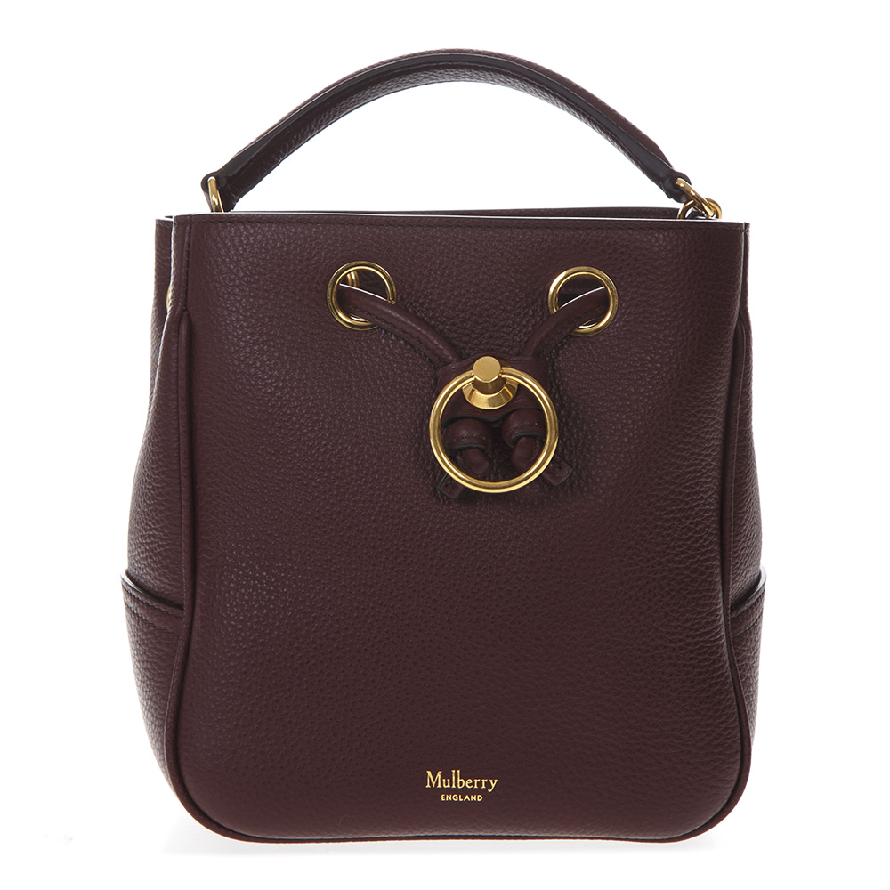 bba18867c6 BURGUNDY LEATHER BUCKET BAG SS 2019 - MULBERRY - Boutique Galiano