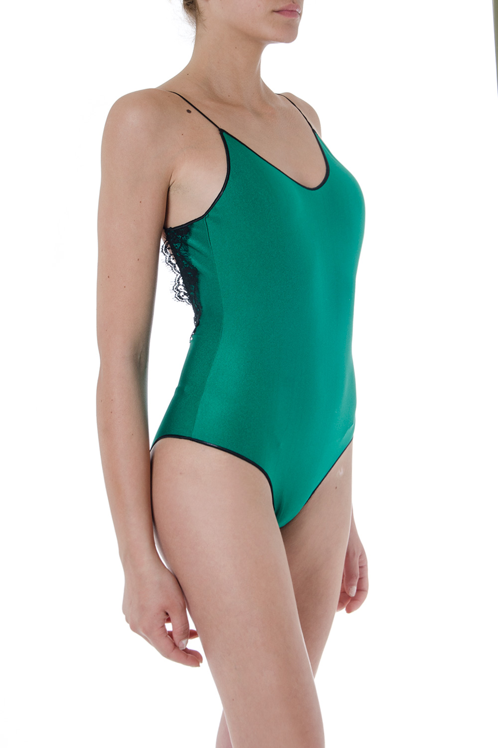 6ccd41f41cf14 GREEN AND BLACK TRAVAILLE SWIMSUIT SS 2019 - OSEREE - Boutique Galiano