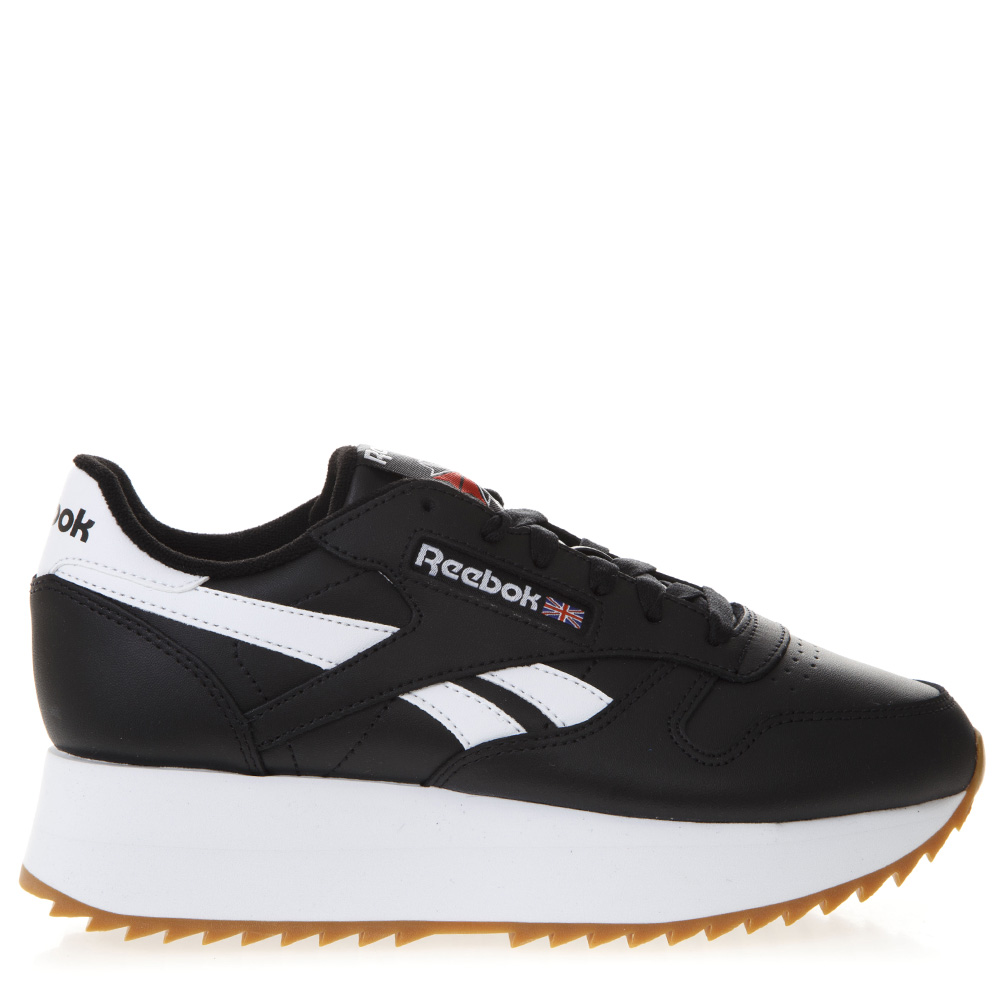 6fd86fe24b1b SNEAKERS NERE IN ECOPELLE CON SUOLA RIALZATA PE 2019 - REEBOK - Boutique  Galiano