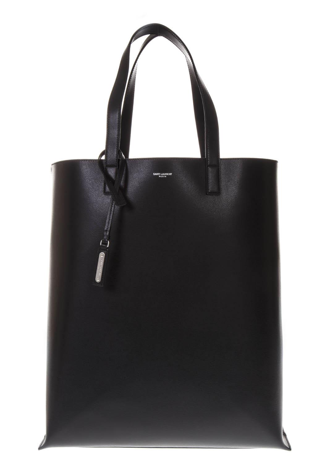 f0ab991341 BLACK LEATHER SHOPPER BAG SS 2019 - SAINT LAURENT - Boutique Galiano