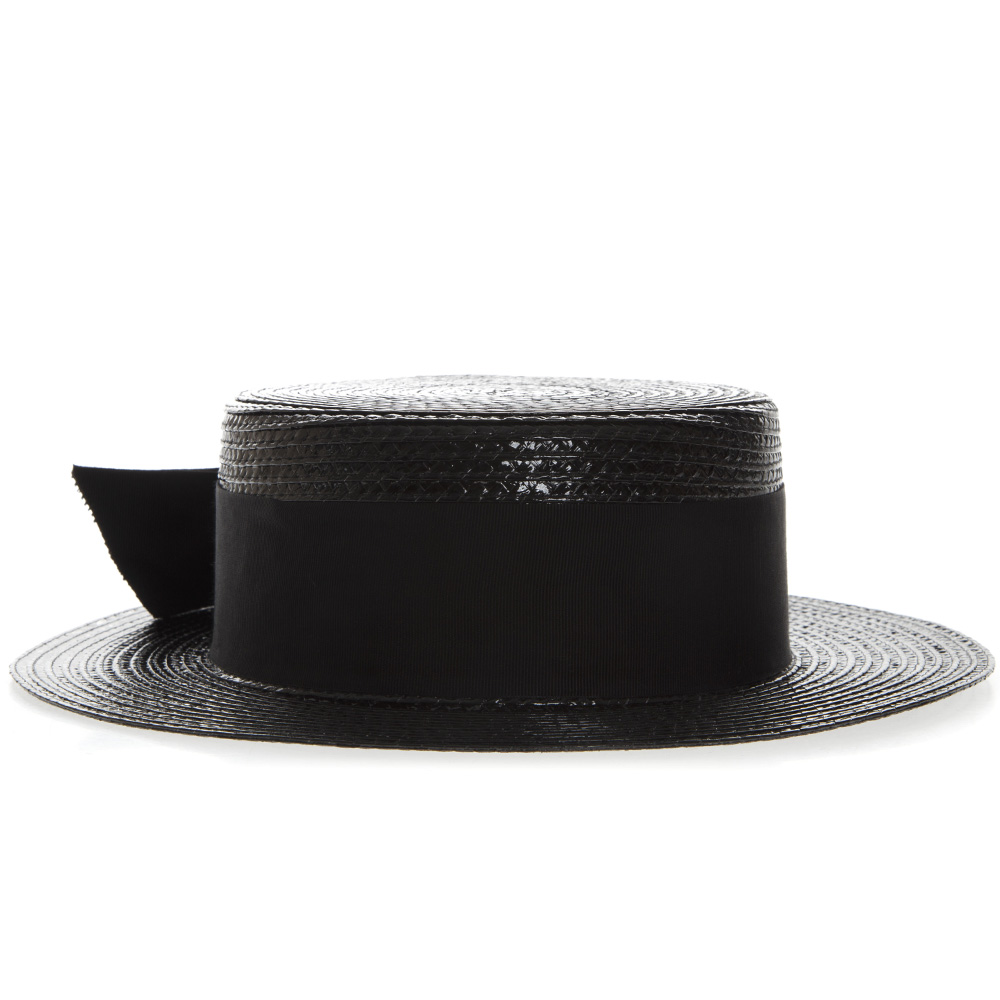7f44b7d2712 SMALL BOATER HAT IN VARNISHED STRAW SS 2019 - SAINT LAURENT - Boutique  Galiano