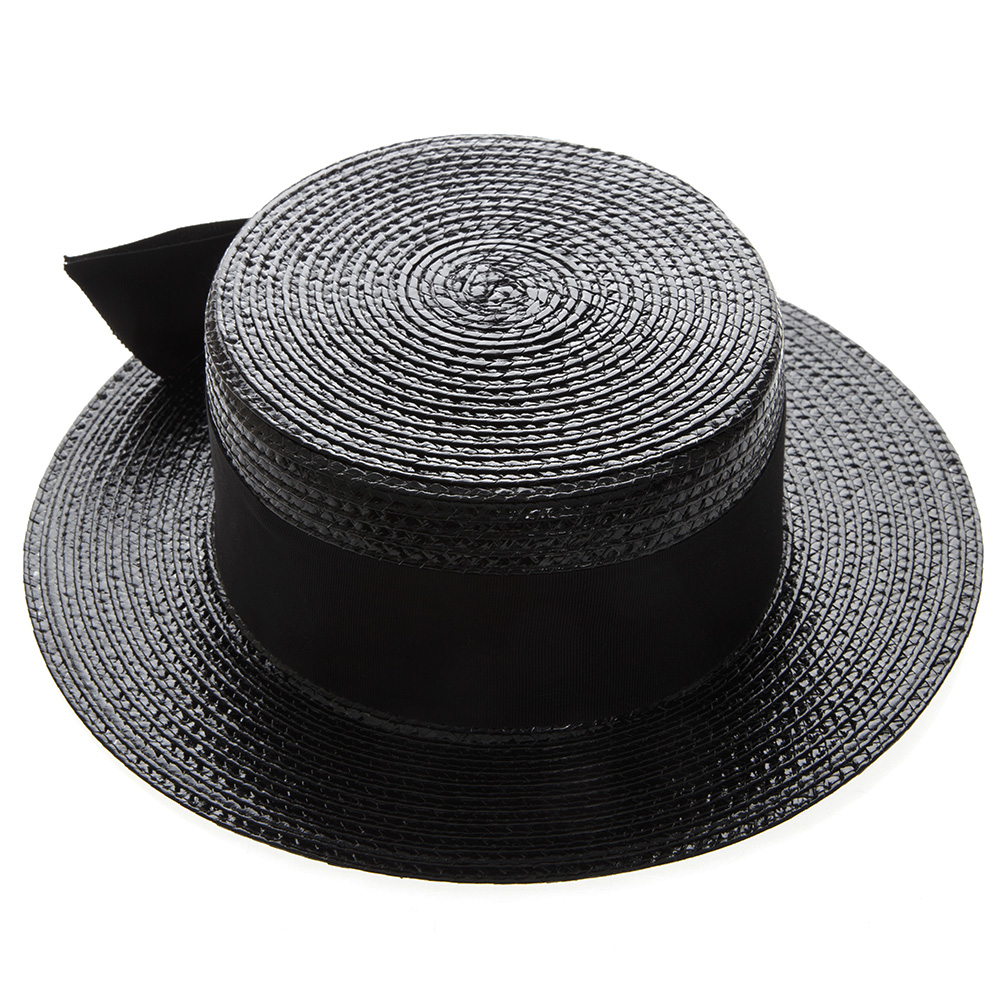 9704ede0bc7 SMALL BOATER HAT IN VARNISHED STRAW SS 2019 - SAINT LAURENT ...