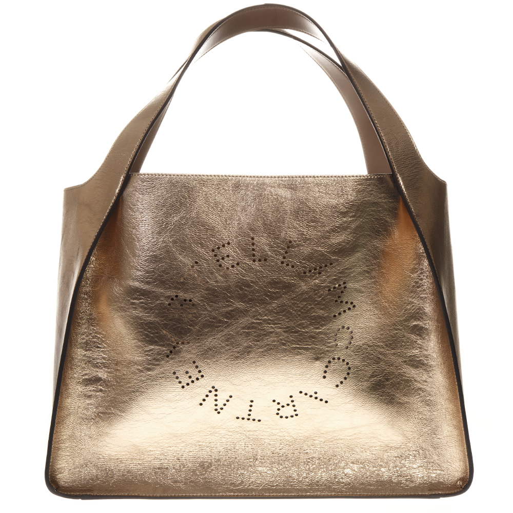 3337f65f78df ROSE GOLD TOTE STELLA LOGO BAG IN LAMINATED FAUX-LEATHER SS 2019 ...