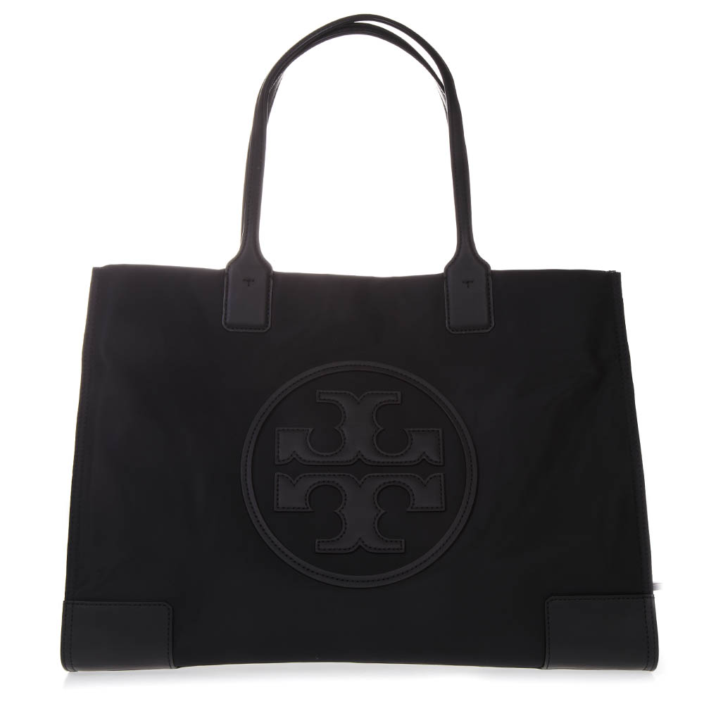 ae4043e83280 ELLA TOTE BLACK BAG IN LEATHER WITH LOGO SS 2019 - TORY ...