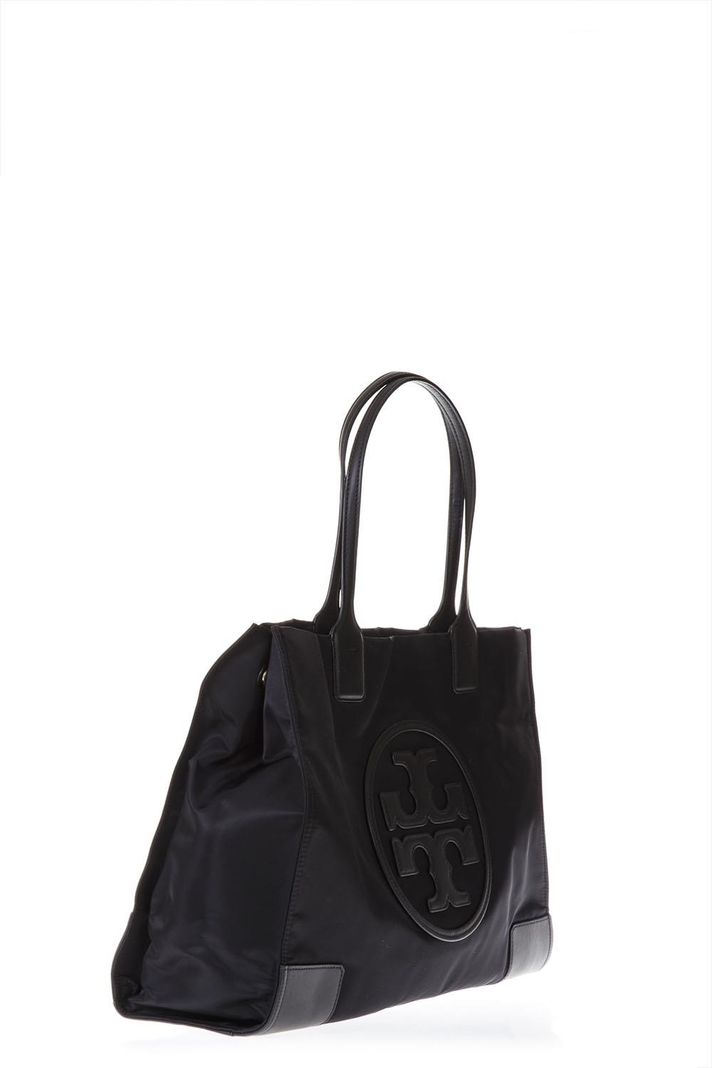 08f64a9ed13 ELLA TOTE BLACK BAG IN LEATHER WITH LOGO SS 2019 - TORY BURCH ...