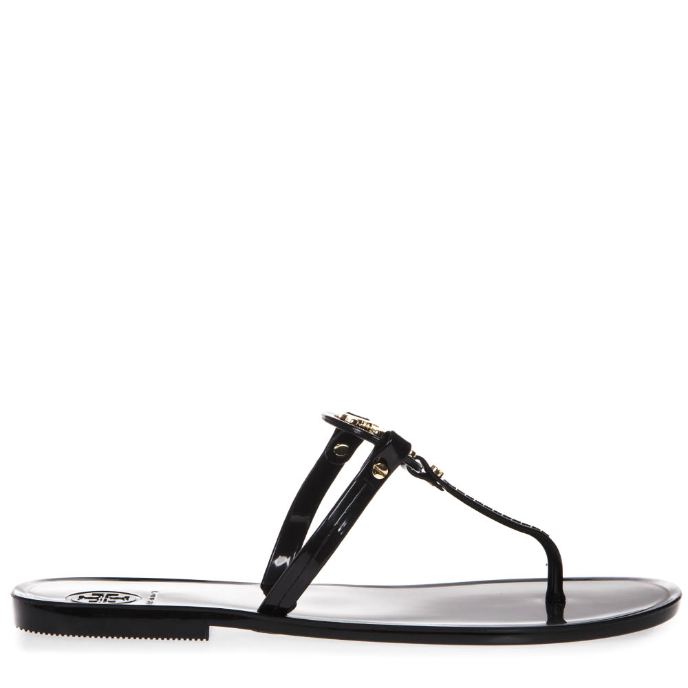 aeffe3b0af05a MINI MILLER JELLY BLACK PLASTIC FLIP FLOP SS19 - TORY BURCH - Boutique  Galiano