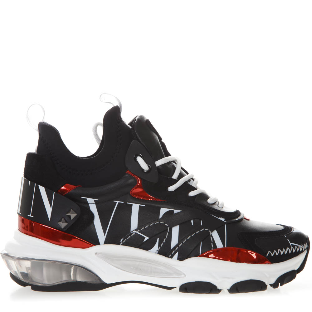 a83b610afdfb BOUNCE SNEAKERS IN BLACK LEATHER AND NEROPRENE WITH LOGO VLTN SS 2019 -  VALENTINO GARAVANI - Boutique Galiano