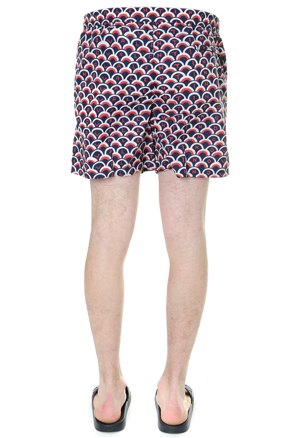 632ebd97e31 BLU AND RED OPTICAL PRINTED SWIM SHORTS SS 2019 - VALENTINO ...