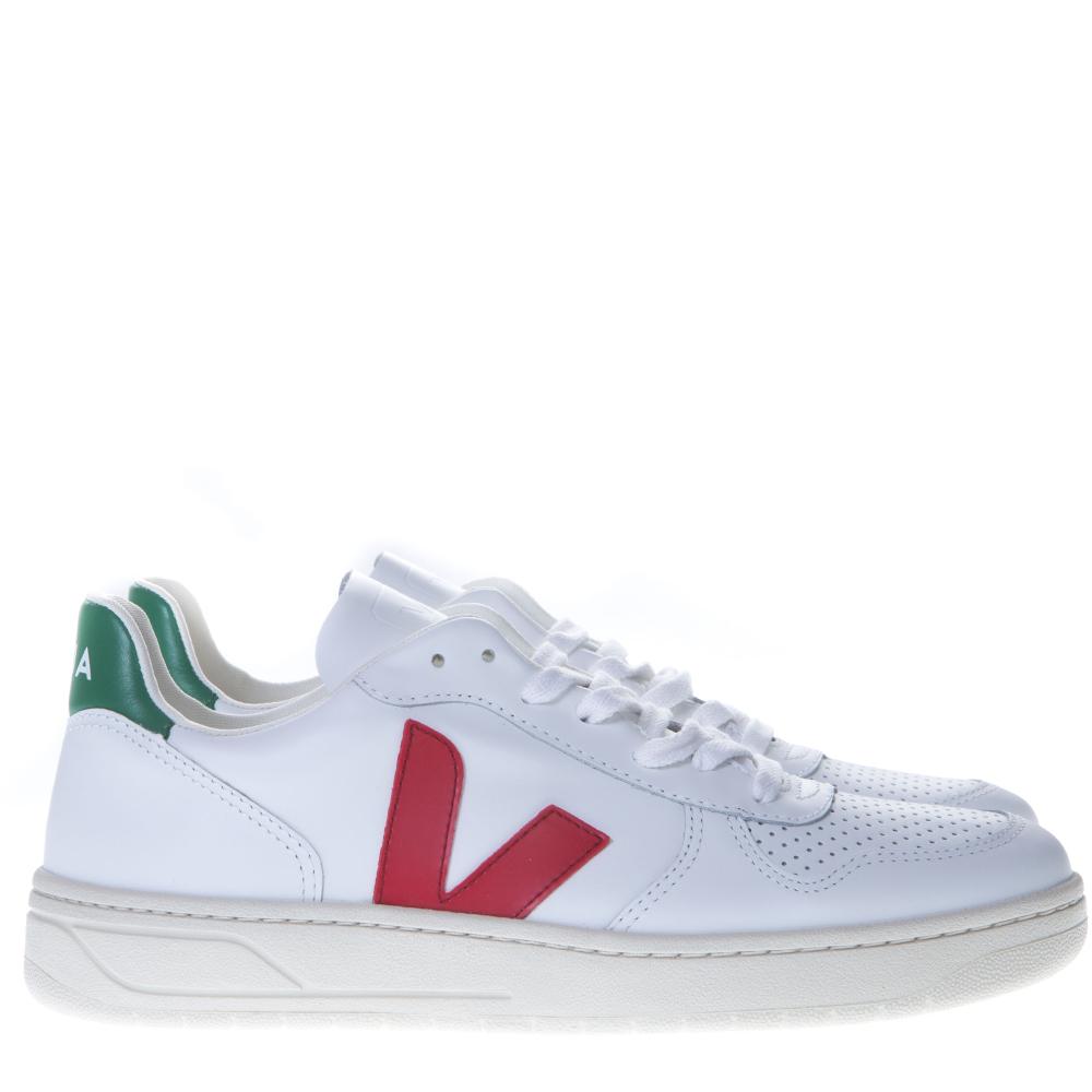 Veja Pelle Multicolor Sneakers 10 In V Dettagli Con Pe 2019 Bianca CshrtQxd