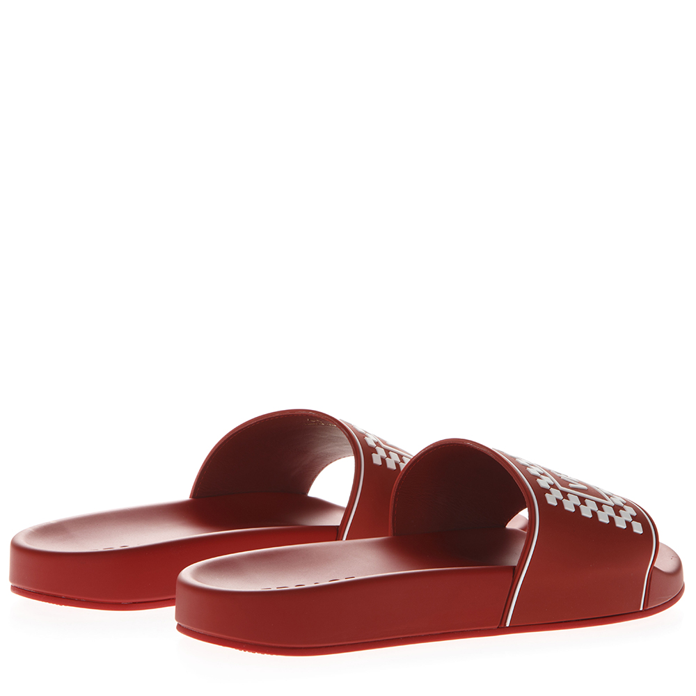 27f317bb5cd RED LEATHER SLIDES WITH VERSACE LOGO SS 2019 - VERSACE ...