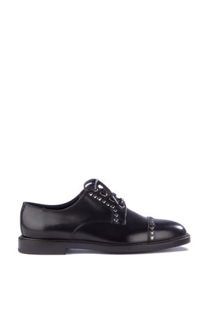 STUDDEED BRUSHED LEATHER LACE-UP SHOES FW 2015/2016 DOLCE & GABBANA | 208 | CA6901AC32980999