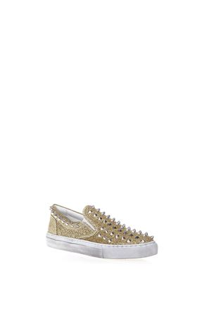 STUDDED GLIETTER FABRIC SLIP ON SNEAKERS GIENCHI | 55 | GXD032P330GLIO1BORO