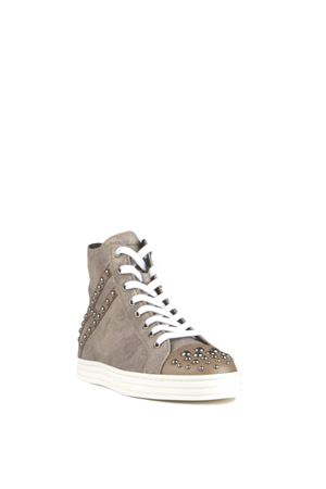 STUDDED SUEDE HIGH-TOP SNEAKERS FW 2015/2016 HOGAN REBEL | 55 | HXW1410S6609MM111G