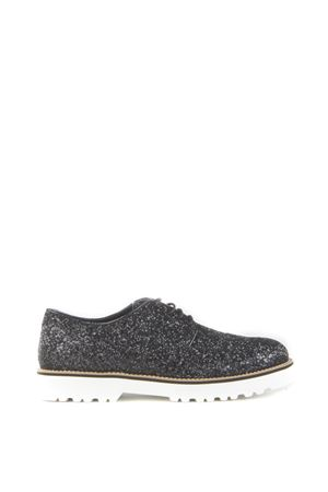 GLITTERED LEATHER LACE-UP SHOES FW 2015/2016 HOGAN | 208 | HXW2590S112L04B999