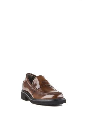 BRUSHED LEATHER LOAFERS FW 2015/2016 TOD
