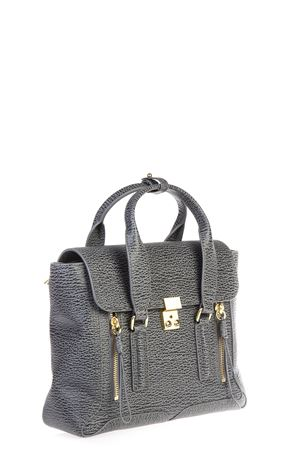 BORSA PASHLI MEDIA IN PELLE AI 2016 3.1 PHILLIP LIM | 2 | AF16-0179PASHLI MEDIUM ASH-CHARCOAL