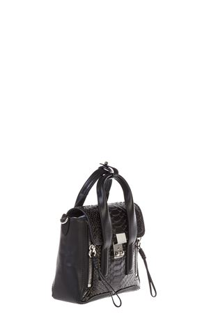MINI PASHLNI PASI PYTHON EFFECT LEATHER BAG FW 2016 3.1 PHILLIP LIM | 2 | AF16-0226PASHLI MININUDE-BLK