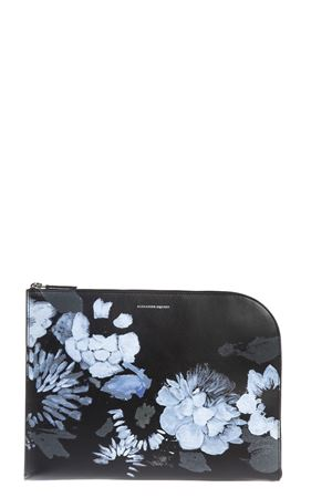 FLORAL PRINT LEATHER CLUTCH FW 2016 ALEXANDER McQUEEN | 5 | 430543D0F5A1090