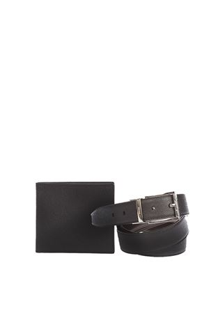 DAUPHINE LEATHER BELT & WALLET FW 2016 BALLY | 34 | 2062081651BLACK