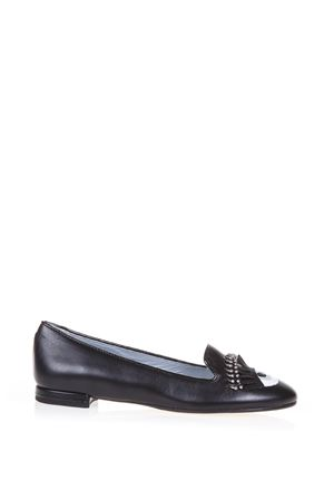 LEATHER EYES LOAFERS WITH PIERCING FW 2016 CHIARA FERRAGNI | 130 | CF1211UNINERO