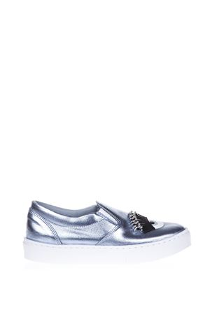 SLIP-ON LEATHER SNEAKERS FW 2016 CHIARA FERRAGNI | 55 | CF1270-L1CELESTE
