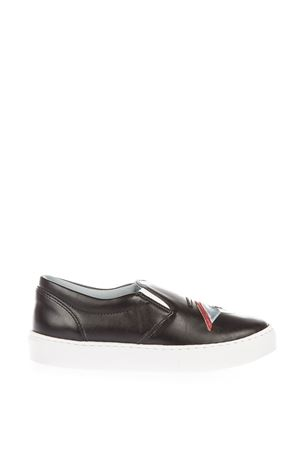 EYE PATCH LEATHER SLIP-ON SNEAKERS FW 2016 CHIARA FERRAGNI | 55 | CF1324SUP ONBLACK