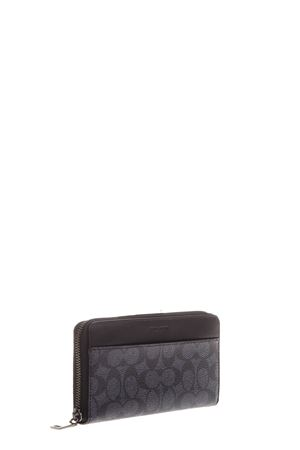 LEATHER & FABRIC WALLET FW 2016 COACH | 34 | 74936UNICHARCOAL