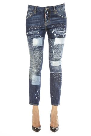 JEANS WORKWEAR IN DENIM PATCHWORK AI 2016 DSQUARED2 | 4 | S72LA0889S30281470