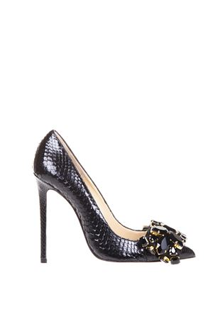 VERONIQUE EMBELLISHED PYTHON LEATHER PUMPS FW 2016 GEDEBE | 68 | VERONIQUE 01PYTHONBLACK