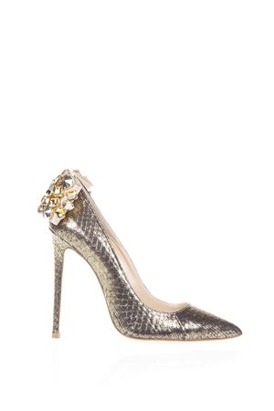 EMBELLISHED PYTHON LEATHER PUMPS FW 2016 GEDEBE | 68 | VERONIQUE 02PYTHONTEXTURE GOLD