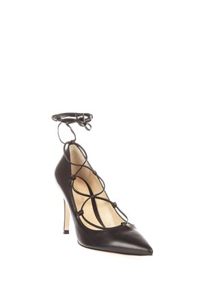 FEMÌ LACE-UP LEATHER PUPMS AI 2016 GIANVITO ROSSI | 68 | G2068985RICBLACK