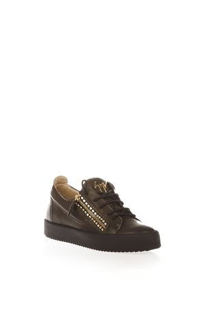 LOGOBALL LEATHER LOW-TOP SNEAKERS FW 2016 GIUSEPPE ZANOTTI | 55 | RW6089LOGOBALL001