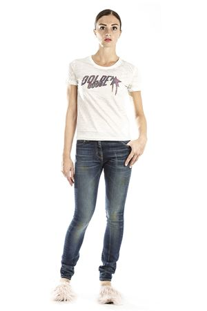 T-SHIRT IN COTONE CON STAMPA AI 2016 GOLDEN GOOSE DELUXE BRAND | 15 | G29WP8111A7