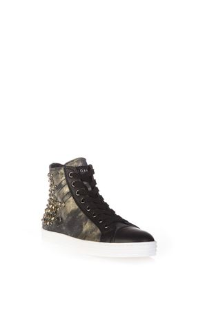 R141 STUDDED SUEDE & LEATHER SNEAKERS FW 2016 HOGAN REBEL | 55 | HXW1410V450DWQB999