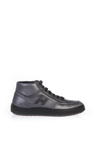 BRUSHED LEATHER HIGH-TOP SNEAKERS FW 2016 HOGAN | 55 | HXM3020W6009II348G