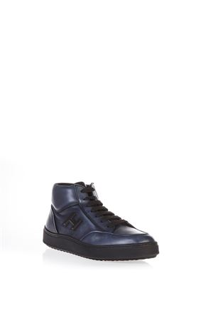 BRUSHED LEATHER HIGH-TOP SNEAKERS FW 2016 HOGAN | 55 | HXM3020W6009II4352