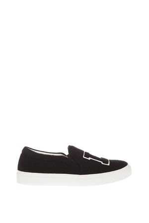 SLIP-ON L. A. IN FELTRO AI 2016 JOSHUA SANDERS | 55 | 100171BLACK