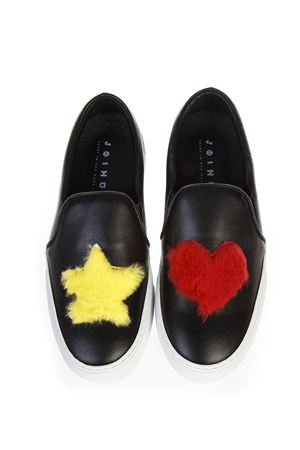 SLIP ON  STAR HEART IN PELLE AI 2016 JOSHUA SANDERS | 55 | 10078HEARTBLACK