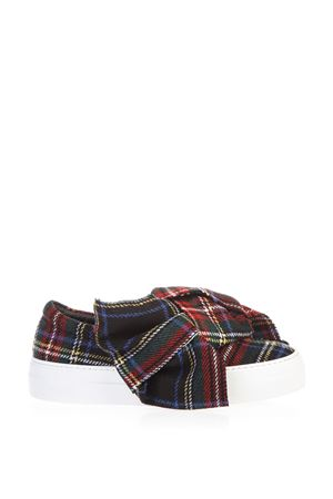 SLIP ON TARTAN BOW IN LANA AI 2016 JOSHUA SANDERS | 55 | 10078TARTANBLU