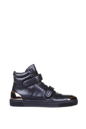 HIGH-TOP LEATHER SNEAKERS FW 2016 LOUIS LEEMAN | 55 | LL0151LEATHERNERO