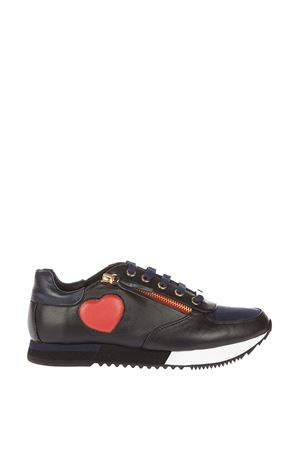 HEART FAUX LEATHER LOW-TOP SNEAKERS FW 2016 LOVE MOSCHINO | 55 | JA15093G12UNI75A