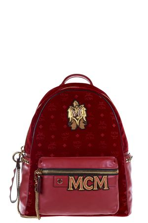 STARK VELVET & LEATHER BACKPACK FW 2016 MCM | 183 | MMK6AVE57RU11
