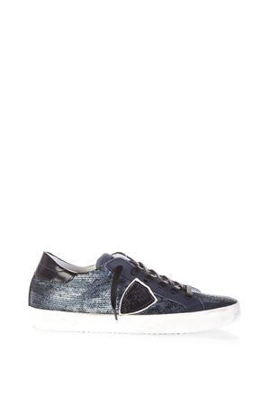 SNEAKERS IN PELLE METALLIZZATA PHILIPPE MODEL | 55 | CLLDCLASSIC LOWLP46