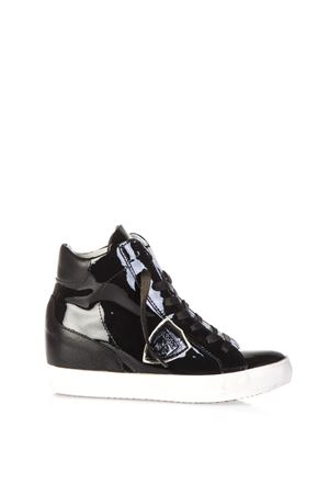 PATENT LEATHER & LEATHER SNEAKERS FW 2016 PHILIPPE MODEL | 55 | PFHDPIAF HIGHML45
