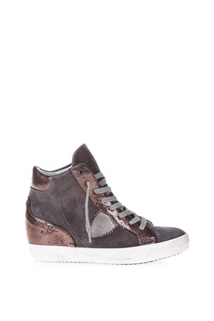 GLITTER SUEDE & LEATHER SNEAKERS FW 2016 PHILIPPE MODEL | 55 | PFHDPIAF HIGHXM52