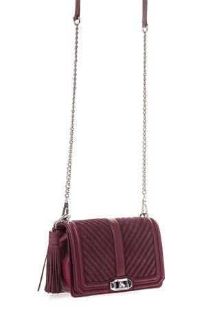 CHEVRON QUILTED LOVE LEATHER & SUEDE CROSSBODY BAG SS 2017 REBECCA MINKOFF | 2 | HF26ELUX08HB 066T