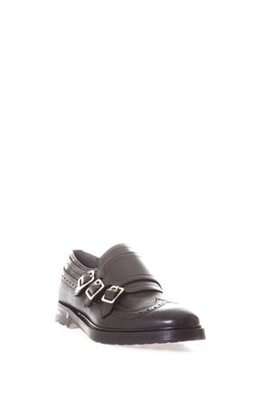 LEATHER MONK-STRAP BROGUE fw 2017 ALEXANDER McQUEEN | 208 | 476210WHQP11000